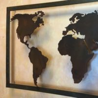 taglio ad acqua design arredo cartina geografica